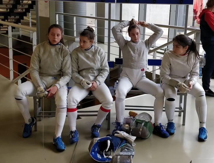 Европейско първенство за кадети и младежи Хърватия кадетки сабя